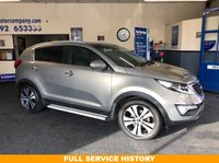 USED 2013 63 KIA SPORTAGE 1.7 CRDI 3 SAT NAV 5d 114 BHP FSH and 09/2020 Warranty