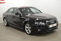 USED 2009 58 AUDI A4 2.0 TDI S LINE 4d 141 BHP LOW MILES + SERVICE HISTORY + 2 KEYS + PART EX WELCOME