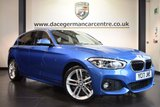 "USED 2017 17 BMW 1 SERIES 1.5 116D M SPORT 5DR AUTO 114 BHP full bmw service history *NO ADMIN FEES* FINISHED IN STUNNING ESTORIL METALLIC BLUE WITH ANTHRACITE UPHOLSTERY + FULL BMW SERVICE HISTORY + SATELLITE NAVIGATION + BLUETOOTH + DAB RADIO + CRUISE CONTROL + RAIN SENSORS + PARKING SENSORS + 18"" ALLOY WHEELS"