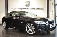 """USED 2011 11 BMW 3 SERIES 2.0 320I M SPORT 2DR AUTO 168 BHP excellent service history *NO ADMIN FEES* FINISHED IN STUNNING SAPPHIRE METALLIC BLACK WITH FULL LEATHER INTERIOR + EXCELLENT SERVICE HISTORY + BLUETOOTH + XENON LIGHTS + HEATED SEATS + CRUISE CONTROL + RAIN SENSORS + LIGHT PACKAGE + PARKING SENSORS + 19"""" ALLOY WHEELS"""