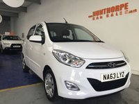 USED 2013 63 HYUNDAI I10 1.2 ACTIVE 5d 85 BHP **EXTREMELY LOW MILES**