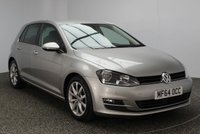 USED 2014 64 VOLKSWAGEN GOLF 1.4 GT TSI ACT BLUEMOTION TECHNOLOGY 5DR 148 BHP FULL SERVICE HISTORY £30 ROAD TAX 1 OWNER FULL VW SERVICE HISTORY + £30 12 MONTHS ROAD TAX + SATELLITE NAVIGATION + BLUETOOTH + PARKING SENSOR + CRUISE CONTROL + MULTI FUNCTION WHEEL + AIR CONDITIONING + 17 INCH ALLOY WHEELS