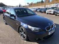 USED 2007 57 BMW 5 SERIES 3.0 530D M-SPORT Diesel Auto Saloon Carbon Black Met, Black leather, Professional Sat Nav ++