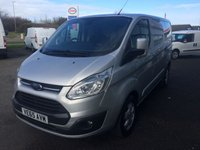2015 FORD TRANSIT CUSTOM 2.2 270 LIMITED  125 BHP SWB £SOLD