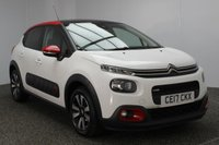 USED 2017 17 CITROEN C3 1.2 PURETECH FLAIR S/S 5DR 109 BHP FULL SERVICE HISTORY 1 OWNER £20 ROAD TAX FULL SERVICE HISTORY + £20 12 MONTHS ROAD TAX + REVERSE CAMERA + BLUETOOTH + CRUISE CONTROL + PANORAMIC ROOF + PARKING SENSOR + ELECTRIC WINDOWS + DAB RADIO + MULTI FUNCTION WHEEL + DAB RADIO + ELECTRIC WINDOWS + 16 INCH ALLOY WHEELS