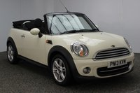 USED 2013 13 MINI CONVERTIBLE 1.6 COOPER 2DR CHILI PACK 122 BHP FULL SERVICE HISTORY FULL SERVICE HISTORY + HALF LEATHER SEATS + PARKING SENSOR + BLUETOOTH + CRUISE CONTROL + CLIMATE CONTROL + DAB RADIO + MULTI FUNCTION WHEEL + RADIO/CD/AUX/USB + ELECTRIC WINDOWS + ELECTRIC MIRRORS + 16 INCH ALLOY WHEELS