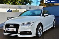 USED 2014 64 AUDI A3 1.8 TFSI S LINE 2d AUTO 178 BHP Full Audi Service History with One Private Owner; Nappa Leather, Heated Seats, Satellite Navigation, Parking Sensors, Cruise Control...