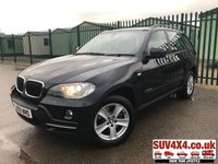 USED 2009 09 BMW X5 3.0 XDRIVE30D SE 5d AUTO 232 BHP 4WD SAT NAV LEATHER FSH XDRIVE 4WD. SATELLITE NAVIGATION. STUNNING BLUE MET WITH FULL BLACK LEATHER TRIM. ELECTRIC MEMORY SEATS. CRUISE CONTROL. 18 INCH ALLOYS. COLOUR CODED TRIMS. PARKING SENSORS. BLUETOOTH PREP. DUAL CLIMATE CONTROL INCLUDING AIR CON. R/CD PLAYER. MFSW. ROOF BARS. MOT 08/19. FULL SERVICE HISTORY. PRESTIGE SUV CENTRE - LS24 8EJ. TEL 01937 849492 OPTION 1