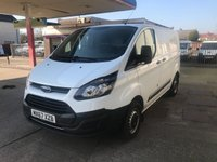 USED 2017 67 FORD TRANSIT CUSTOM 2.0 290 LR P/V 1d 104 BHP VAN IS PLUS VAT, 1 OWNER WITH FULL SERVICE HISTORY