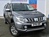 USED 2016 16 MITSUBISHI L200 2.4 DI-D 4X4 WARRIOR 5 Seat Double Cab Pickup with NO VAT TO PAY so SAVE 20% Rear Canopy with Windows Rear Load Liner Towbar Sat Nav Rear Camera Heated Leather Seats and much more **ONE FORMER KEEPER**