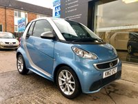 USED 2012 12 SMART FORTWO CABRIO 1.0 PASSION MHD 2d AUTO 71 BHP Full S/history,2keys,bluetooth