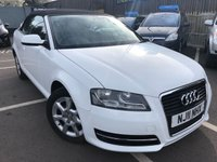 USED 2011 11 AUDI A3 1.2 TFSI 2d 103 BHP CONVERTIBLE WITH LONG MOT