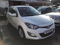 USED 2013 13 HYUNDAI I20 1.2 ACTIVE 5d 84 BHP White, low road tax, economical, great value, superb.