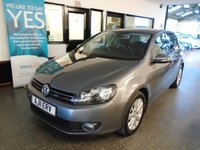USED 2011 11 VOLKSWAGEN GOLF 2.0 MATCH TDI 5d 138 BHP Three owners, full service history, October Mot. Great Match specification. Finished in Metallic United Grey with Black cloth seats.