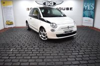 USED 2012 12 FIAT 500 0.9 TwinAir Plus (s/s) 3dr RED LEATHER, 2 OWNERS, FSH