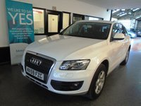USED 2009 AUDI Q5 2.0 TFSI QUATTRO 5d 208 BHP Three owners, full service history, October Mot. Finished in Ibis White with Black cloth seats. PETROL POWERED TFSI QUATTRO Q5 !!