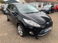USED 2009 59 FORD FIESTA 1.4 TITANIUM 5d 96 BHP MAIN DEALER SERVICE HISTORY / FULL LEATHER / VOICE COMM / BLUETOOTH / PRIVACY GLASS / REAR PARKING SENSORS