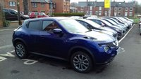 USED 2015 65 NISSAN JUKE 1.6 TEKNA XTRONIC 5d AUTO 117 BHP Top of the Range Tekna model with privacy glass, climate control, sat nav system, bluetooth, leather interior, heated seats, alloy wheels, 360 parking cameras and full service history. All our cars meet large city emission standards!