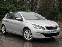 USED 2014 14 PEUGEOT 308 1.6 E-HDI ACTIVE 5d 114 BHP FULL TOUCH SCREEN MEDIA, SAT NAV