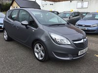 USED 2015 65 VAUXHALL MERIVA 1.4 EXCLUSIV AC 5d 99 BHP OUR  PRICE INCLUDES A 6 MONTH AA WARRANTY DEALER CARE EXTENDED GUARANTEE, 1 YEARS MOT AND A OIL & FILTERS SERVICE. 6 MONTHS FREE BREAKDOWN COVER.   CALL US NOW FOR MORE INFORMATION OR TO BOOK A TEST DRIVE ON 01315387070 !!