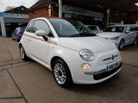 USED 2013 13 FIAT 500 1.2 C LOUNGE 3d 69 BHP BLUE AND ME,AIR CON,PARKING SENSORS,TWO KEYS,SERVICE HISTORY