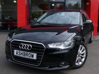 USED 2014 64 AUDI A6 AVANT 2.0 TDI ULTRA SE 5d 190 S/S SAT NAV, DAB RADIO, BLUETOOTH PHONE & MUSIC STREAMING, AUX INPUT, FRONT & REAR PARKING SENSORS WITH DISPLAY, 17 INCH 10 SPOKE ALLOYS, ELECTRIC TAILGATE, FULL BLACK LEATHER INTERIOR, LEATHER MULTI FUNCTION STEERING WHEEL, CRUISE CONTROL, LIGHT & RAIN SENSORS WITH AUTO DIMMING REAR VIEW MIRROR, AUTO HILL HOLD, AUDI DRIVE SELECT, SERVICE HISTORY, £30 ROAD TAX (119 G/KM)