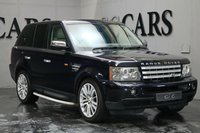 USED 2006 06 LAND ROVER RANGE ROVER SPORT 2.7 TDV6 HSE 5d AUTO 188 BHP Dark Metallic Blue / Full Ivory Leather Heated Electric Memory Seats, Satellite Navigation + Harmon Kardon Premium Sound + Bluetooth Connectivity, Automatic Bi-Xenon Headlights + Power Wash, Front and Rear Park Distance Control, Dual Zone Climate Control, Leather Multi Function Steering Wheel, Cruise Control, 20 Inch Alloy Wheels, Factory Fitted Side Steps, Heated Electric Powerfold Mirrors, On-board Computer, Privacy Glass