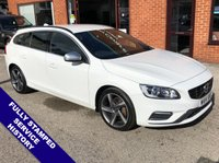 USED 2014 14 VOLVO V60 2.4 D5 R-DESIGN NAV 5DOOR AUTO 212 BHP DAB  :  R-Design Steering Wheel  :  R-Design Embossed Contrasting Leather Upholstery     USB & AUX Sockets   :   Bluetooth   :   Rear Parking Sensors   :   Full Service History
