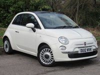 USED 2012 12 FIAT 500 1.2 LOUNGE 3d 69 BHP FULL LEATHER INTERIOR, ALLOY WHEELS