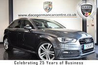"USED 2016 16 AUDI A3 2.0 TDI S LINE NAV 5DR 182 BHP full service history *NO ADMIN FEES* FINISHED IN STUNNING MONSOON METALLIC GREY WITH HALF BLACK LEATHER INTERIOR + FULL SERVICE HISTORY + SATELLITE NAVIGATION + BLUETOOTH + DAB RADIO + CRUISE CONTROL + SPORT SEATS + HEATED ELECTRIC FOLDING MIRRORS + 18"" ALLOY WHEELS"