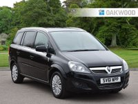 USED 2011 61 VAUXHALL ZAFIRA 1.8 EXCITE 5d 138 BHP