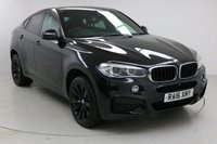 """USED 2016 16 BMW X6 3.0 XDRIVE30D M SPORT 4d AUTO 255 BHP Finished in stunning Black Sapphire Metallic with Black Leather interior, 20"""" Black Alloy Wheels, Reverse Assist Camera, 1 owner with Full BMW Service History, Heated Front and rear seats, Surround View Camera, Harman Kardon Surround Sound System, Multi Function Wheel, Bluetooth, Climate Control"""