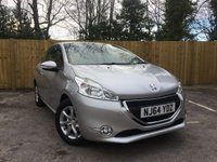 USED 2014 64 PEUGEOT 208 1.2 ACTIVE 3d 82 BHP Full Service History, Bluetooth