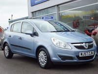 USED 2007 57 VAUXHALL CORSA 1.0 LIFE A/C 5dr ....SERVICE HISTORY. BEAUTIFUL CONDITION. ECONOMICAL & LOW INSURANCE