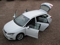 USED 2014 14 SEAT LEON 1.6 TDI SE TECHNOLOGY 5d 105 BHP DEMO PLUS ONE OWNER FROM NEW,SAT NAV, AIR CON, HEATED SEATS,BLUETOOTH, ALLOYS, ZERO ROAD TAX, FULL SERVICE HISTORY, CAMBELT AND WATER PUMP DONE @ 101K IN 2019, MOT TILL FEB 2020 NO ADVISORIES, HPI CLEAR, 2 REMOTE KEYS