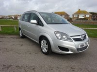 2014 VAUXHALL ZAFIRA 1.8 EXCLUSIV 120 BHP. SILVER. 2 OWNERS.                                FULL SERVICE HISTORY. £6995.00