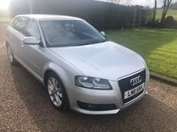 USED 2011 AUDI A3 2.0 SPORTBACK TDI SPORT 5d 138 BHP Lovely stunning car.. Cambelt changed 75593miles 2 keys  £30 Road tax