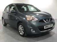 USED 2013 63 NISSAN MICRA 1.2 ACENTA 5d 79 BHP WITH BUILT-IN COLOUR SAT NAV TOP SPEC WITH BUILT IN SAT NAV