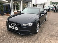 USED 2013 13 AUDI A5 2.0 SPORTBACK TDI S LINE 5d 177 BHP FULL DEALER HISTORY-£30 PERYEAR ROAD TAX-BLUETOOTH-SAT NAV-1 FORMER KEEPER-HEATED SEATS-BANG AND OLUFSEN SOUND SYSTEM
