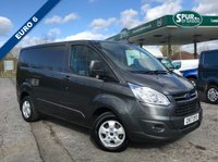 USED 2017 17 FORD TRANSIT CUSTOM 2.0 290 LIMITED LR P/V 1d 130 BHP Euro 6, Top Spec, Air Con, Heated Seats, Cruise Control, Top Spec.