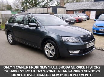 2016 SKODA OCTAVIA 1.6TDI SE Business 5 Door Estate In Grey With Built In Sat Nav £8795.00