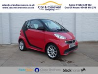 USED 2012 62 SMART FORTWO 1.0 PASSION MHD 2d AUTO 71 BHP Service History SAT-NAV A/C Buy Now, Pay Later Finance!