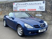 USED 2005 MERCEDES-BENZ SLK 1.8 SLK200 KOMPRESSOR 2d AUTO 161 BHP LOW MILEAGE+BLACK LEATHER INTERIOR+CRUISE CONTROL+SERVICE HISTORY