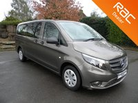 USED 2016 16 MERCEDES-BENZ VITO 2.1 114 BLUETEC TOURER PRO 5d 136 BHP Full Leather Seats, Automatic, 9 Seats
