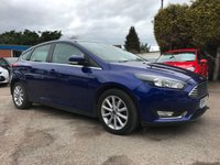 2016 FORD FOCUS 1.6 TITANIUM NAVIGATOR 5d AUTOMATIC WITH LOW MILEAGE AND ONE OWNER  £9250.00