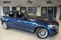 USED 2015 64 BMW 1 SERIES 1.6 116D EFFICIENTDYNAMICS 5d 114 BHP FINISHED IN STUNNING DEEP SEA BLUE WITH ANTHRACITE CLOTH SEATS + FULL BMW SERVICE HISTORY + BLUETOOTH + FREE ROAD TAX + BMW SERVICE PACK 5 YEARS/60K MILES + DAB RADIO + 16 INCH ALLOYS + RAIN SENSORS