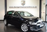 """USED 2014 14 VOLKSWAGEN GOLF 2.0 GT TDI BLUEMOTION TECHNOLOGY 5DR 148  BHP full service history *NO ADMIN FEES* FINISHED IN STUNNING FLACK BLACK WITH HALF SUEDE UPHOLSTERY + FULL SERVICE HISTORY + SATELLITE NAVIGATION + BLUETOOTH + DAB RADIO + CRUISE CONTROL + SPORT SEATS + AUXILIARY PORT + HEATED MIRRORS + PARKING SENSORS + 17"""" ALLOY WHEEL"""