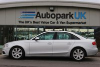 USED 2010 10 AUDI A4 2.0 TDI SE 4d 143 BHP LOW DEPOSIT OR NO DEPOSIT FINANCE AVAILABLE