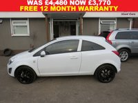 USED 2012 VAUXHALL CORSA 1.2 CORSA ACTIVE  3DR AC HATCHBACK  +++SEPTEMBER SALE NOW ON+++