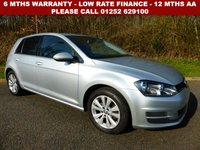 USED 2013 63 VOLKSWAGEN GOLF 2.0 SE TDI BLUEMOTION TECHNOLOGY 5d 148 BHP All retail cars sold are fully prepared and include - Oil & filter service, 6 months warranty, minimum 6 months Mot, 12 months AA breakdown cover, HPI vehicle check assuring you that your new vehicle will have no registered accident claims reported, or any outstanding finance, Government VOSA Mot mileage check. Because we are an AA approved dealer, all our vehicles come with free AA breakdown cover and a free AA history check.. Low rate finance available. Up to 3 years warranty available.